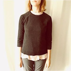 Philosophy Dark Gray Crew Neck Sweater Small